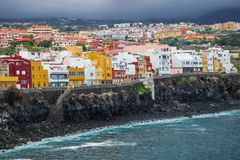 Punta Brava neighborhood in Puerto de la Cruz Royalty Free Stock Images