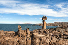 Punta Camarones, Patagonia, la Argentina Foto de archivo libre de regalías