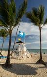 Punta Cana 10 de noviembre de 2015 - estación magnífica de Bahia Principe Hotel Life Guard el 10 de noviembre de 2015 en Punta Ca imagen de archivo