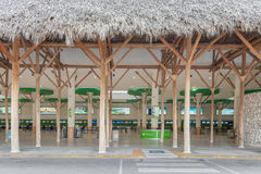PUNTA CANA, DOMINICAN REPUBLIC - JUNE 18, 2015: Punta Cana international airport. Departure area Stock Photography