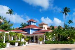 PUNTA CANA, DOMINICAN REPUBLIC - OCTOBER 2015: Hotel Ambar in Dominicana Royalty Free Stock Photos