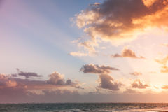 Punta Cana Nascer do sol da praia de Bavaro Imagem de Stock Royalty Free