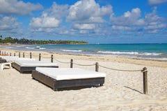 Punta Cana plaża, popularny miejsce przeznaczenia w republice dominikańskiej obraz stock