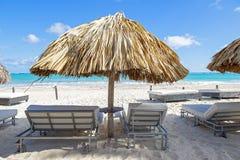 Punta Cana plaża, popularny miejsce przeznaczenia w republice dominikańskiej obrazy royalty free