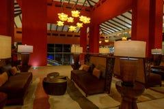 PUNTA CANA, RÉPUBLIQUE DOMINICAINE - 29 OCTOBRE 2015 : Intérieur de Barcelo Bavaro Photo libre de droits