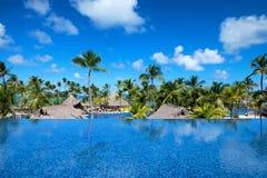 PUNTA CANA, REPÚBLICA DOMINICANA - 29 DE OCTUBRE DE 2015: Palacio de Barcelo Bavaro del hotel fotografía de archivo libre de regalías