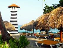 Punta Cana strandsemesterort Arkivfoto