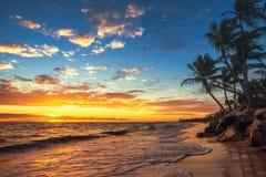 Punta Cana sunrise , Landscape of paradise tropical beach Stock Photography