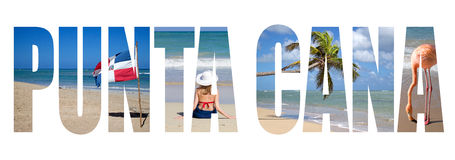 Punta Cana. Written with landscapes letters Royalty Free Stock Image