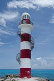 Punta Cancun lighthouse. At the middle of noon heat Stock Photo