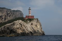 Punta Carena Lighthouse Capri. Punta Carena Lighthouse in Capri, Italy Stock Image