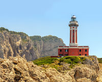 Punta Carena lighthouse Royalty Free Stock Photos