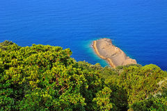 Punta Chiappa in the natural park of Portofino in Liguria Stock Photo