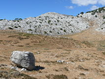 Punta Cusidore valley. Deserted summer in Sardinian mountains Royalty Free Stock Image