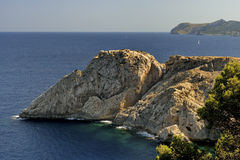 Punta de Capdpera, Majorca, Spain, a fragment of coast Royalty Free Stock Photography