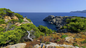Punta de Capdpera, Majorca, Spain, a fragment of coast Royalty Free Stock Images