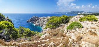 Punta de Castellat a Capdepera vicino a Cala Ratjada Fotografia Stock