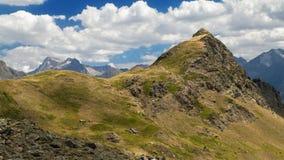 Punta de la Garganta Peak. In the Tena Valley, Pyrenees of Huesca, Spain Royalty Free Stock Images