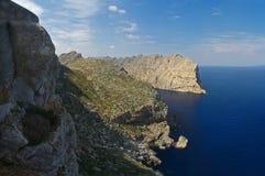 Punta de la Nao, Majorca, Spagna. immagini stock libere da diritti