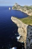 Punta de la Nau & El Colomer Islet. Punta de la Nau & the islet of El Colomer along the north-west coast of the island Mallorca stock images