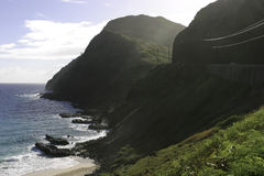 Punta de Makapuu, Hawaii fotos de archivo