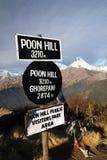 Punta de opinión de la colina de Poon Imagen de archivo