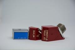 Punta de prueba del ángulo para el equipo de prueba ultrasónica Fotografía de archivo