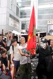 Punta de prueba disidente de la muerte de la demanda de los manifestantes en H.K. Imagen de archivo libre de regalías