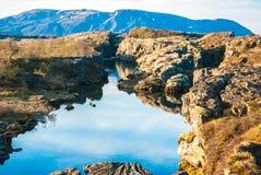 Punta de reunión de las placas tectónicas de Islandia Imagenes de archivo