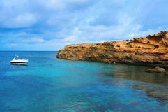 Punta de Sa Pedrera coast in Formentera, Balearic Islands, Spain Royalty Free Stock Photos