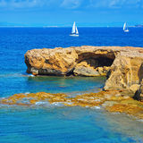 Punta de Sa Pedrera coast in Formentera, Balearic Islands, Spain Royalty Free Stock Image