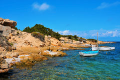 Punta de Sa Pedrera in Formentera, Balearic Islands, Spain Royalty Free Stock Images