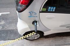 Punta de servicio del coche eléctrico Fotos de archivo libres de regalías