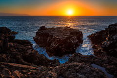 Punta de Teno. Sunset in punta de Teno, Tenerife.Canary Islands Stock Photos