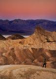 Punta de Zaberski - parque nacional de Death Valley Foto de archivo libre de regalías