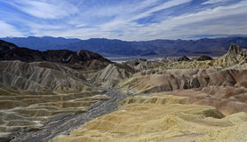 Punta de Zabriskie, Death Valley Foto de archivo