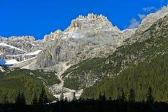 Punta dei Tre Scarperi, Sesto, Sesto Dolomites Royalty Free Stock Images