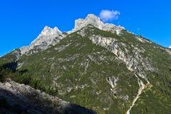 Punta dei Tre Scarperi, Sesto, Sesto Dolomites Royalty Free Stock Image