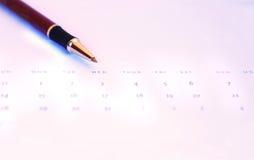 Punta del calendario Imágenes de archivo libres de regalías