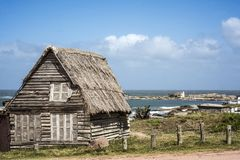 Punta del Diablo Beach in de Kust van Uruguay stock fotografie