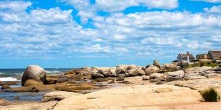 Punta del Diablo Beach, Uruguay Arkivbilder