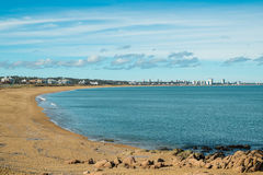 Punta del Este. Bay and beach with its skyline in the background Stock Images