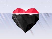 Punta del iceberg diferente de submarino ilustración del vector