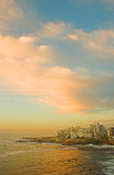 Punta del mar, Ciudad del Cabo, Suráfrica imagenes de archivo