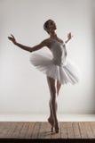 Punta del pie de la bailarina Foto de archivo libre de regalías