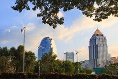 Punta del veiw de Bangkok del parque del lunphini Foto de archivo libre de regalías