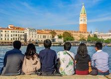Punta Della Dogana, Venetië: Het Grote Alternatief voor Piazza San Marco stock afbeelding