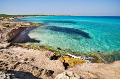 Punta della Suina海滩 库存照片