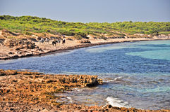 Punta della Suina beach in Salento Stock Images