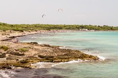 Punta della Suina plaża blisko Gallipoli w Salento Apulia Ita Fotografia Royalty Free
